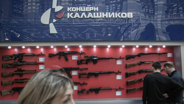 Stand of Kalashnikov Concern at 'Weapons and Hunting' excibition un Moscow. - Sputnik International