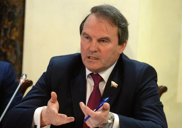 Igor Morozov, a member of the committee on international relations of the Federation Council