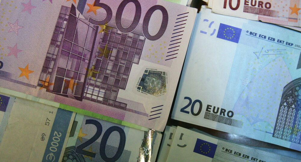 The euro sunk as much as 1.2 percent against the dollar to $1.1864 – its weakest level since March 2006