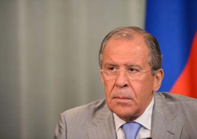 Meeting of Russian Foreign Minister Sergei Lavrov and his Mauritanian counterpart Ahmed Ould Teguedi