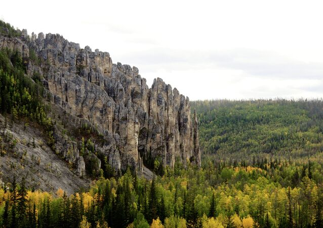 The Lenskie Stolby Nature Park in Yakutia
