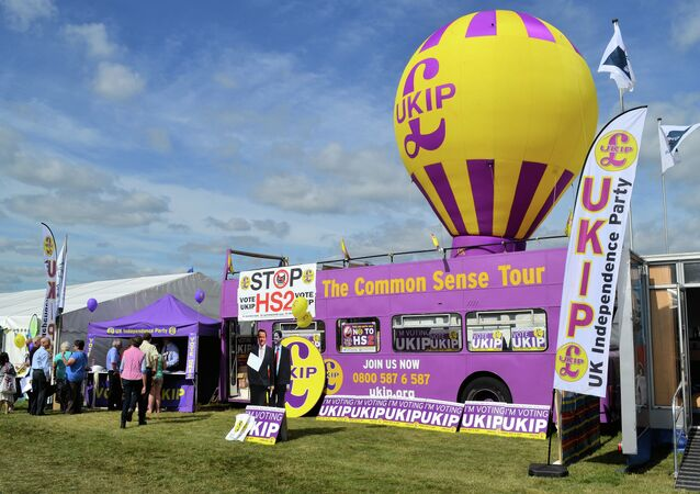 The UKIP (or Poundland Party) stand at the Bucks County Show.