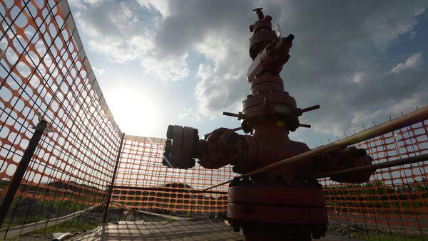 The borehole of shale gas mining - Sputnik International