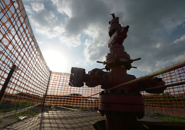 The borehole of shale gas mining