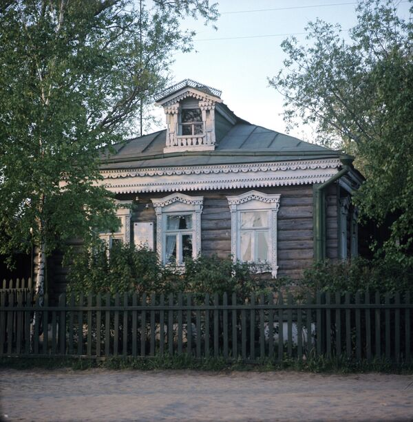 The house-museum of Russian poet Sergei Yesenin
