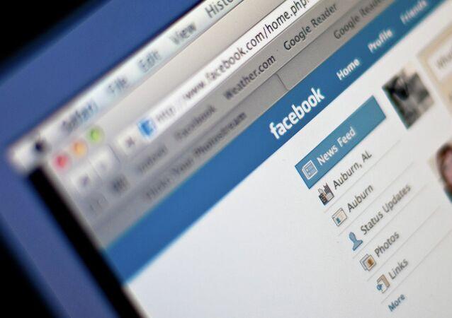 Facebook social network.