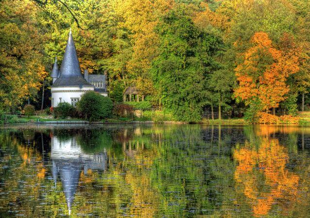 Autumn at Raky-Weiher in Dalheim, Germany.