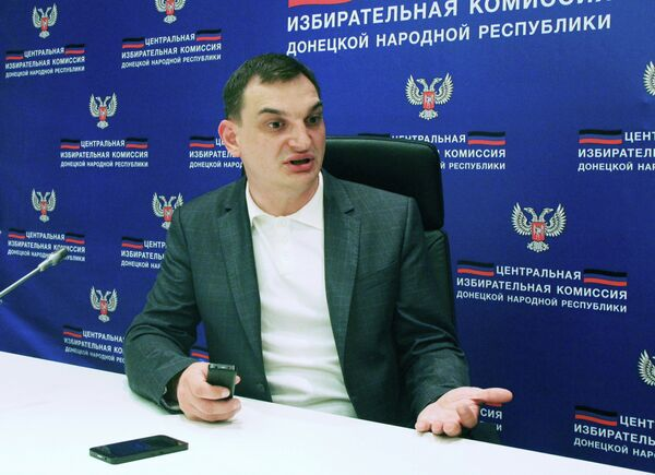The head of the Central Election Commission of the of the self-proclaimed Donetsk, Roman Lyagin - Sputnik International