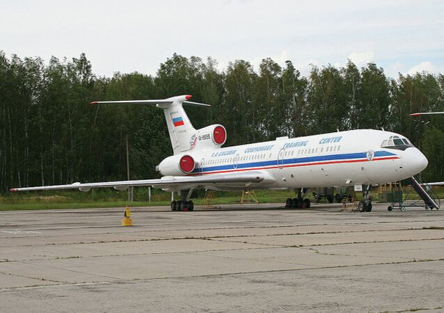 Tupolev Tu-154M-LK1 'RA-85655'  This aircraft has a combined ability as a Zero-Gravity trainer for the Russian Space Centre and as an Open-Skies aircraft.