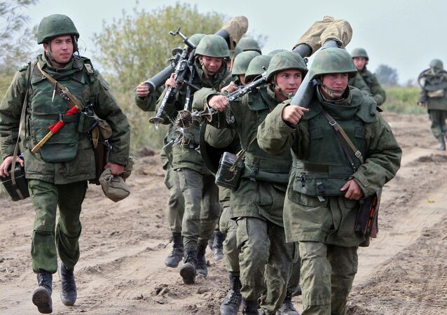 File Photo: Russian military during drills of the Baltic Fleet in Kaliningrad Region