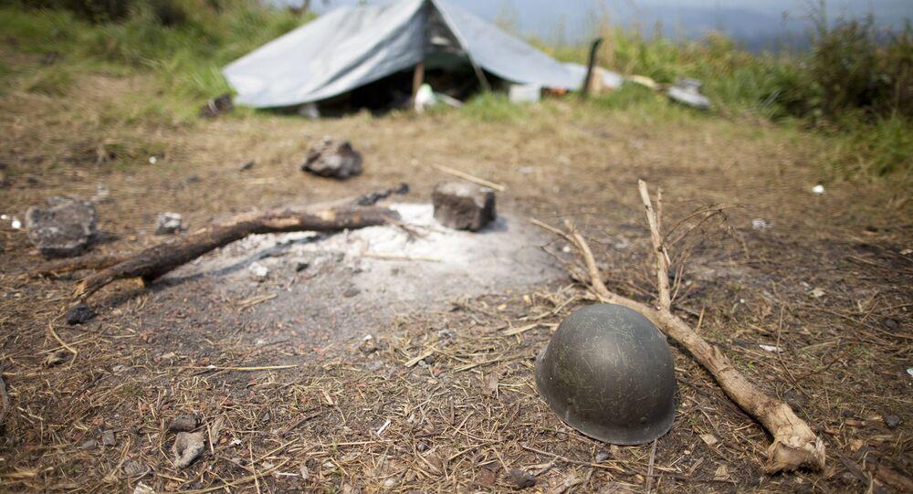 Полевой лагерь армии Демократической Республики Конго