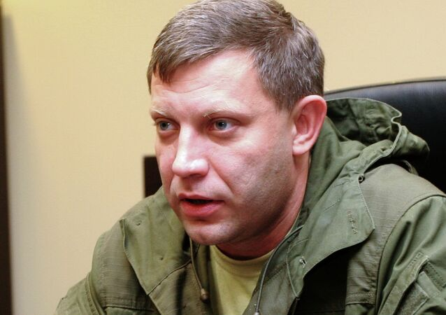 Eastern Ukrainian self-proclaimed Donetsk People's Republic leader Alexander Zakharchenko