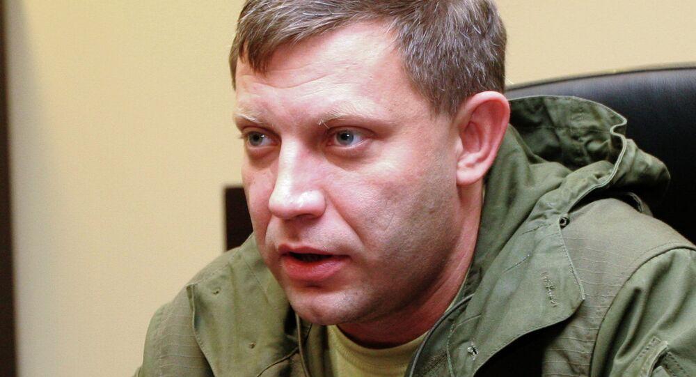 Eastern Ukrainian self-proclaimed Donetsk People's Republic leader Alexander Zakharchenko