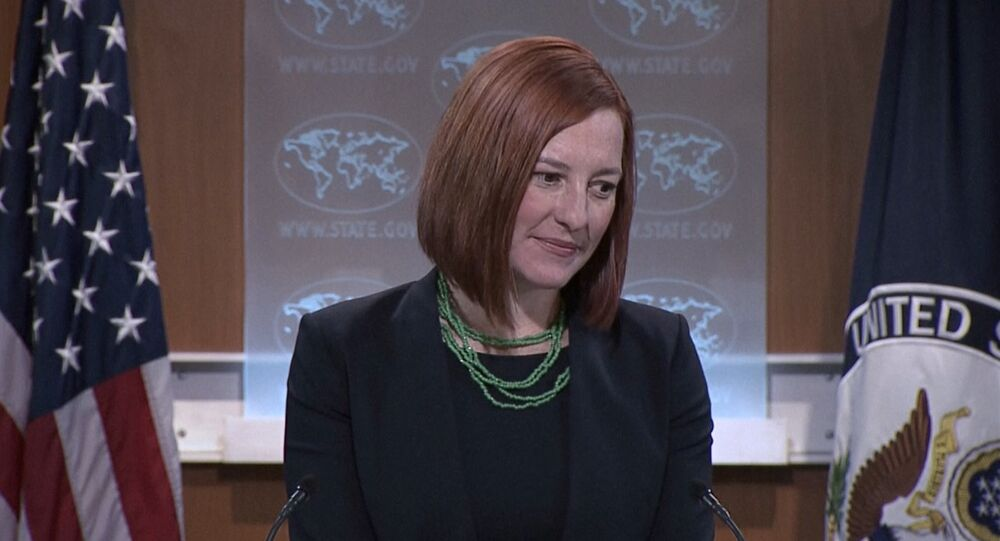 State Department spokesperson Jen Psaki announced that the United States denounces the movement of large military convoys in the Donetsk region, but does not have any proof that the heavy artillery and tanks belong to Russia.