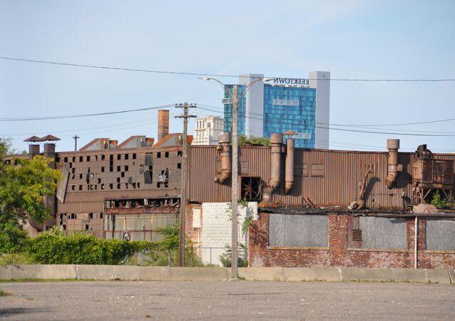 Заброшенный завод в Детройте