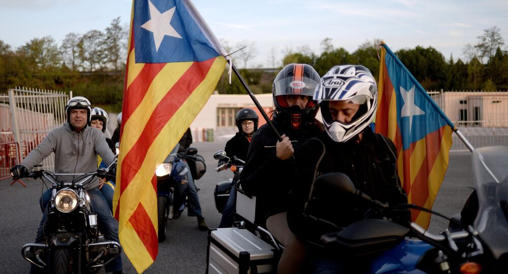 Rally in Barcelona in support of Catalonia's independence