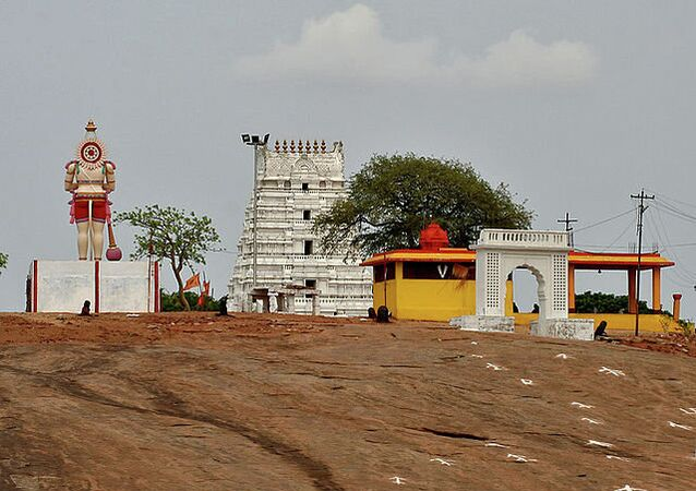 Temple at Keesaragutta in Keesara, Rangareddy district, Andhra Pradesh, India.