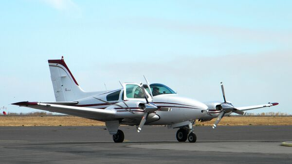 The Indonesian air force has intercepted and downed Australia's light aircraft Beechcraft 95 for violating Indonesian airspace. - Sputnik International