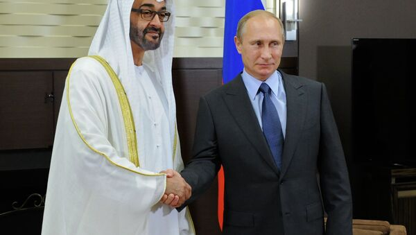 Russian President Vladimir Putin met with Gen. Mohammed bin Zayed bin Sultan Al Nahyan, the Crown Prince of Abu Dhabi, Thursday, discussing bilateral ties and the situation in the Middle East. - Sputnik International